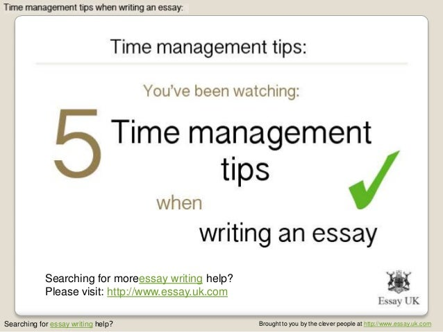 Essay time management