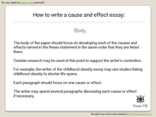 how to write a cause and effect essay essay writing