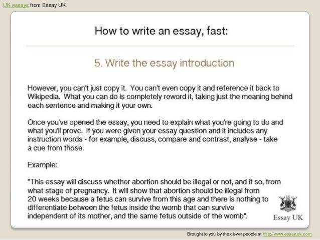 example essay writing