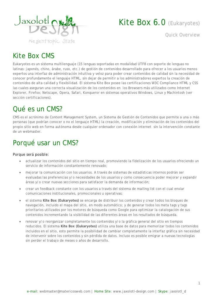 Kite Box 6.0                   (Eukaryotes)                                                                               ...