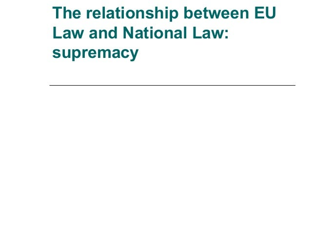 relationship between eu law and national