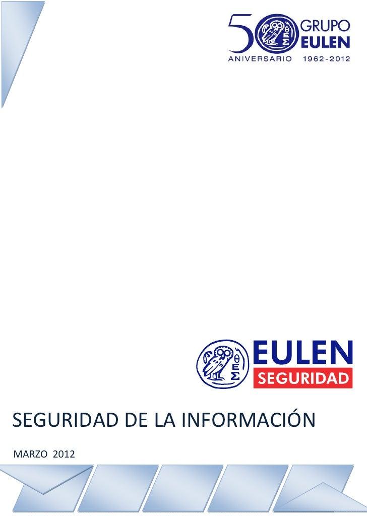SEGURIDAD DE LA INFORMACIÓNMARZO 2012