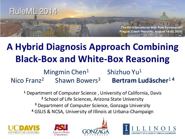 A	   Hybrid	   Diagnosis	   Approach	   Combining	    Black-­‐Box	   and	   White-­‐Box	   Reasoning	   	    Mingmin	   Ch...