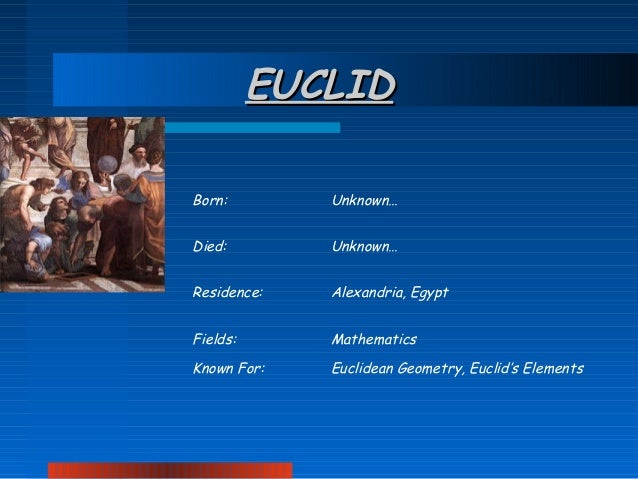 How Euclid once ruled the world