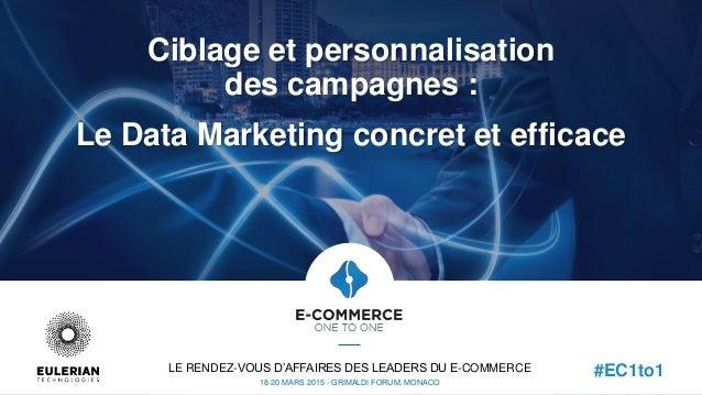 Ciblage et personnalisation des campagnes : Le Data Marketing concret et efficace LE RENDEZ-VOUS D'AFFAIRES DES LEADERS DU...