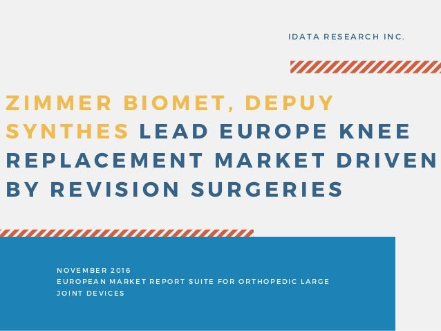 Zimmer Biomet, DePuy Synthes Lead Europe Knee Replacement Market Driv…
