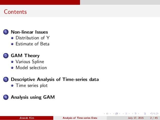 Generalized Additive Model  Slide 2