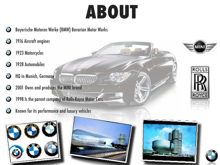 bmw marketing strategy essays The marketing strategy of bmw group will include their segmentation, target markets, marketing mix and by using swot analysis, the author will describe the advantages and benefits it is delivering to its customers and also its disadvantages.