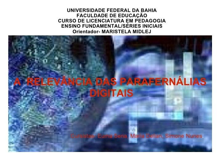 UNIVERSIDADE FEDERAL DA BAHIA FACULDADE DE EDUCAÇÃO CURSO DE LICENCIATURA EM PEDAGOGIA ENSINO FUNDAMENTAL/SÉRIES INICIAIS ...