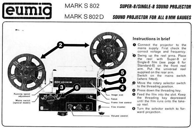 eumig mark s802 manual super 8 rh slideshare net eumig mark m projector manual eumig 501 projector manual