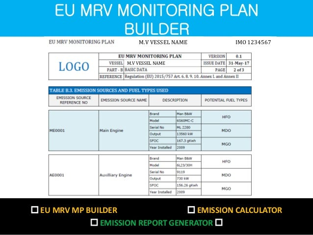 Eu mrv monitoring plan builder for Share builders plan