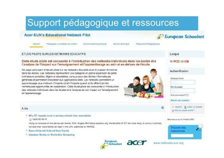 Support pédagogique et ressources and resources                                www.netbooks.eun.org