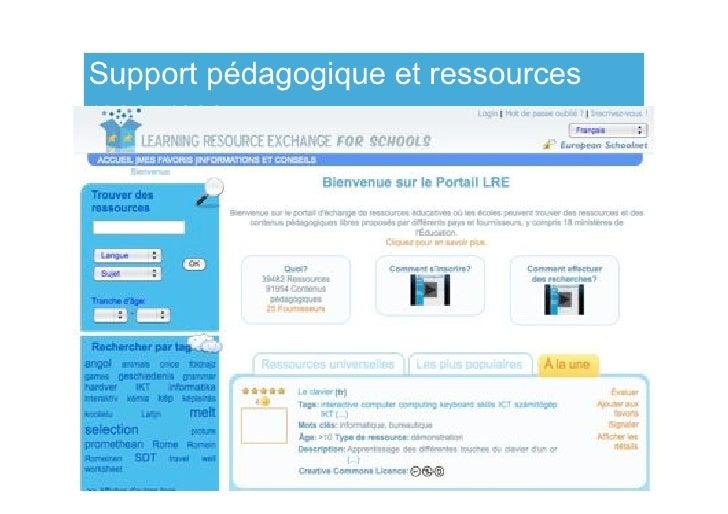 Support pédagogique et ressources resources                                www.netbooks.eun.org