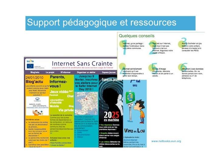 Support pédagogique et ressources                                www.netbooks.eun.org