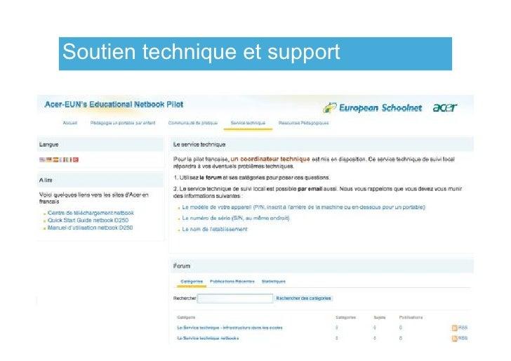 Soutien technique et support                                    www.netbooks.eun.org