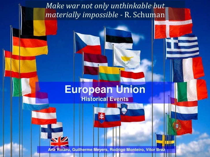 Make war not only unthinkable butmaterially impossible - R. Schuman        European Union                Historical Events...