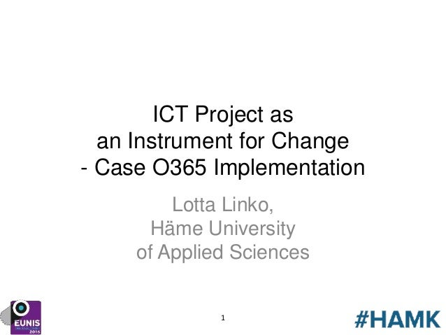 Projects where ict is applied