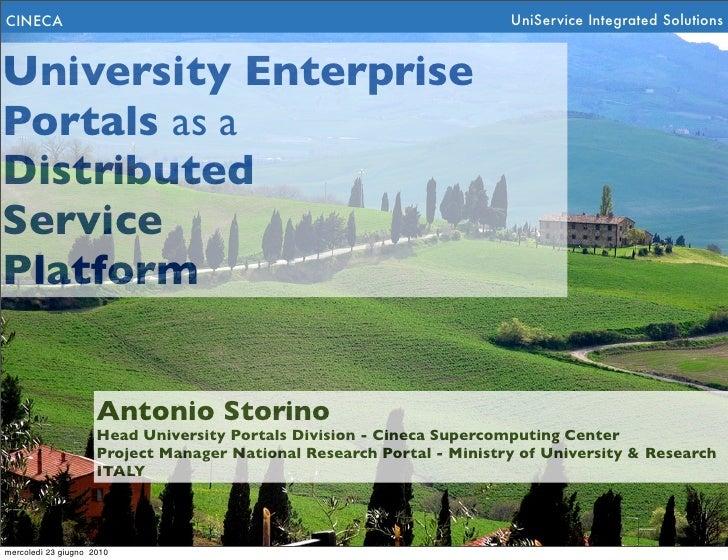 CINECA                                                                 UniService Integrated Solutions   University Enterp...