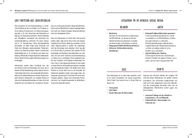 4140 • Monitoring  Sammeln von Kommentaren und Meinungen  der Öffentlichkeit, um daraus ein Bild der  öffentlichen Mei...