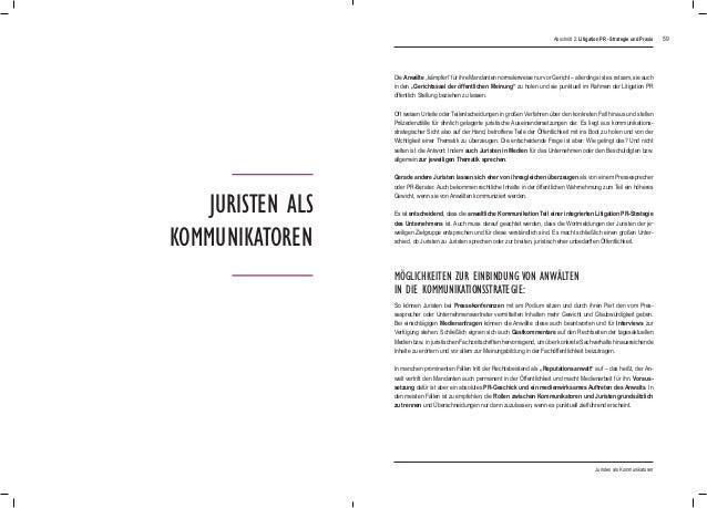"""59 Juristen als Kommunikatoren Die Anwälte """"kämpfen"""" für ihre Mandanten normalerweise nur vor Gericht – allerdings ist es ..."""