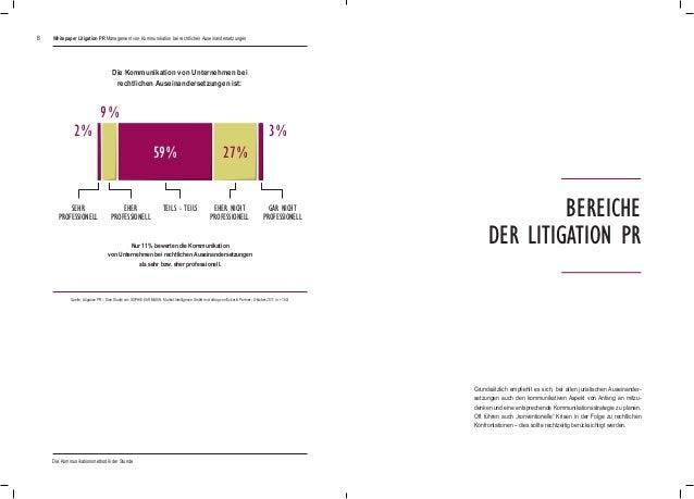 8 Die Kommunikation von Unternehmen bei rechtlichen Auseinandersetzungen ist: Nur 11% bewerten die Kommunikation von Unte...