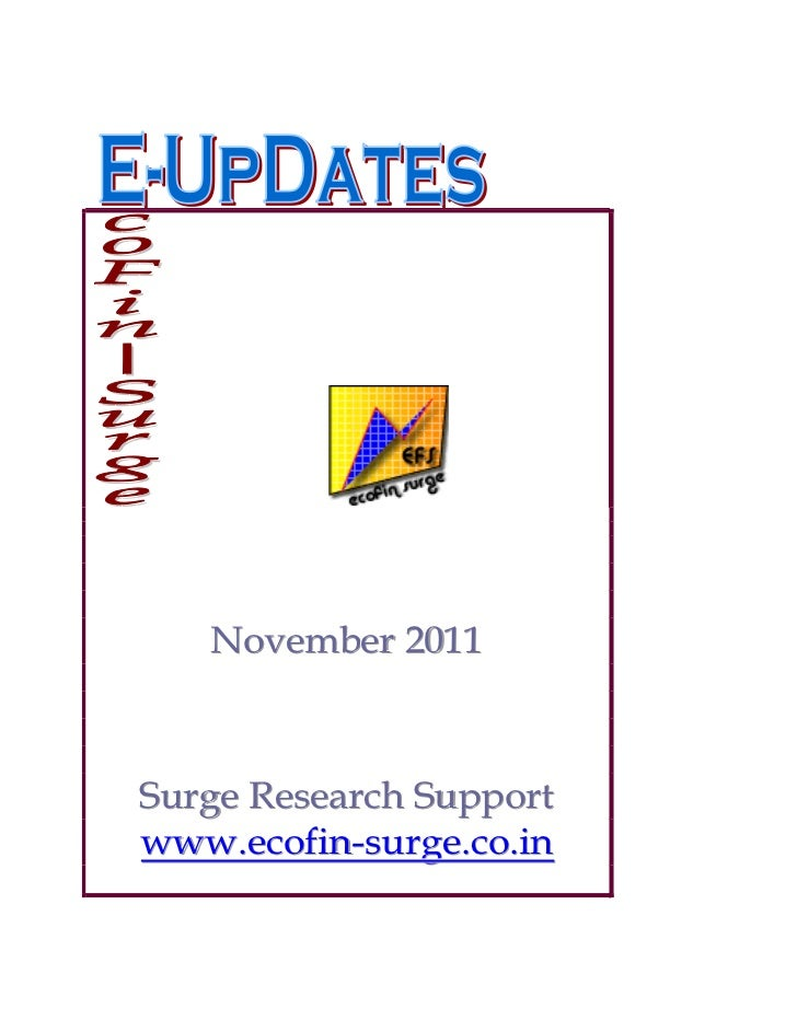 November 2011Surge Research Supportwww.ecofin-surge.co.in