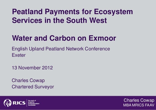 Peatland Payments for EcosystemServices in the South WestWater and Carbon on ExmoorEnglish Upland Peatland Network Confere...