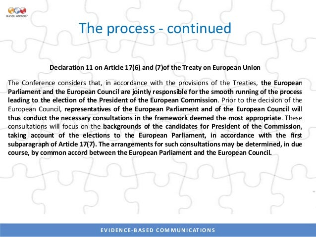 EVIDENCE-BASED COMMUNICATIONSEVIDENCE-BASED COMMUNICATIONS The people: Commission President (with current positions) • EPP...
