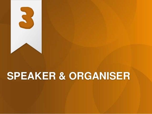SPEAKER & ORGANISER 3