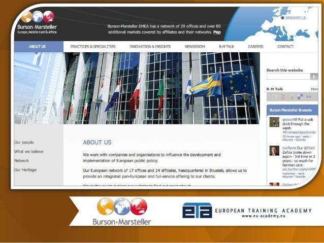 SPEAKER MODERATOR David Earnshaw András BANETH CEO of Burson-Marsteller Director – European Training Academy EU Public Aff...