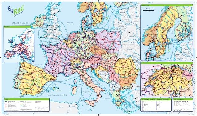 eurail railway map 2012