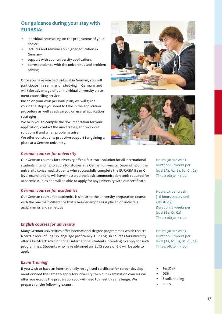 EURASIA Institute - Study in Germany- www eurasia-institute com