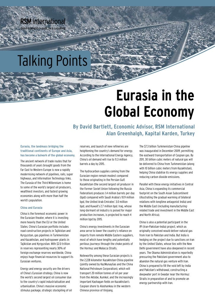 Talking Points                                                                             Eurasia in the                 ...
