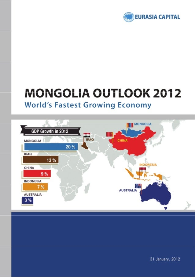 Mongolia Outlook 2012 World's Fastest Growing Economy  31 January 2012  Copyright © 2012 Eurasia Capital Ltd. All rights r...