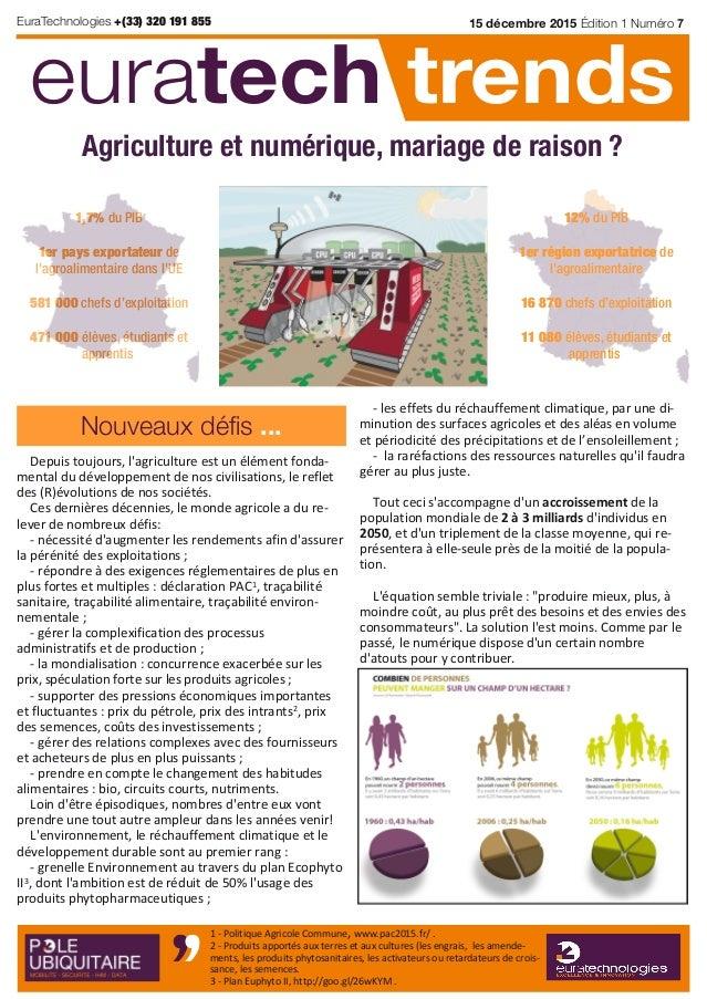 Depuis toujours, l'agriculture est un élément fonda‐ mental du développement de nos civilisations, le reflet des (R)évolut...