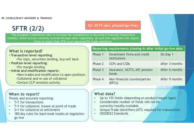 EU regulatory agenda 2018 2019