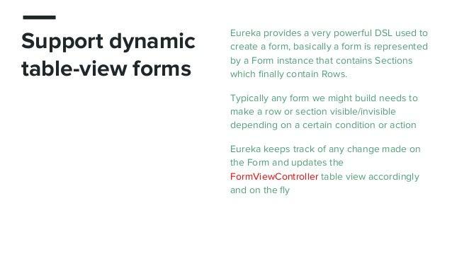 Eureka - elegant iOs form builder in swift (johnp - mingle)