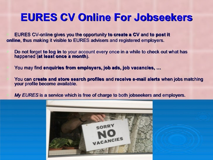 How to use the EURES Portal - for job seekers - YouTube