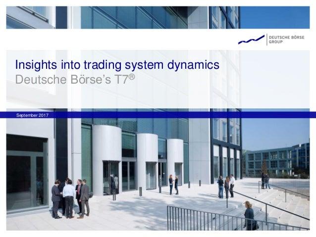 Insights into trading system dynamics Deutsche Börse's T7® September 2017
