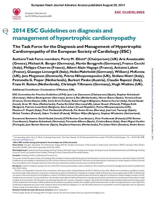European Heart Journal Advance Access published August 29, 2014  ESC GUIDELINES  European Heart Journal  doi:10.1093/eurhe...