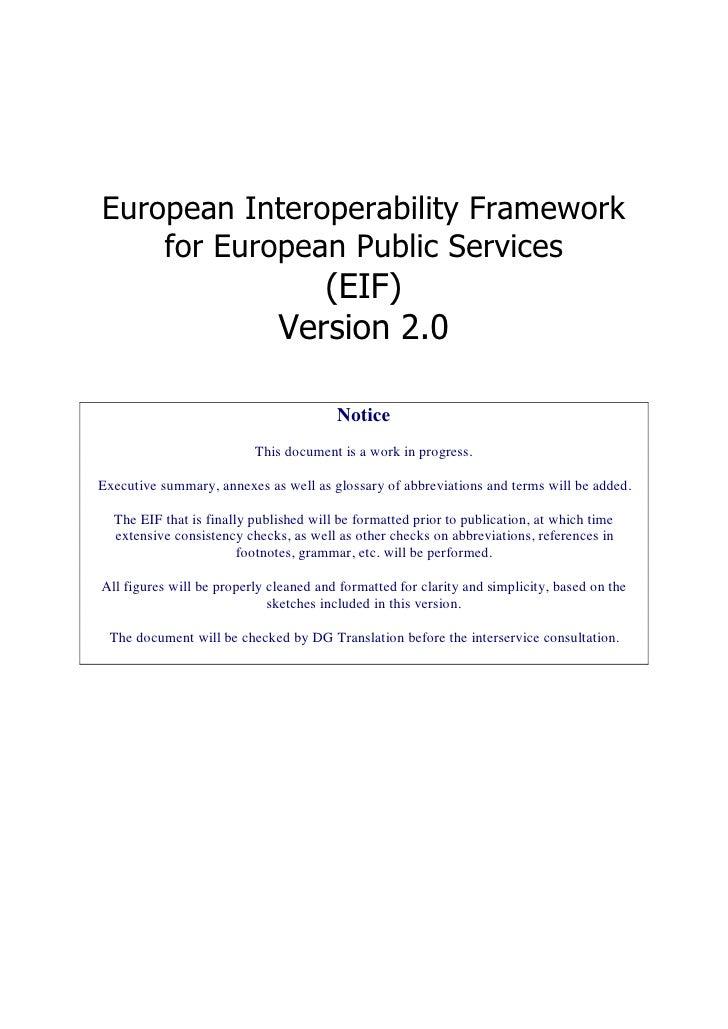 European Interoperability Framework     for European Public Services                                  (EIF)               ...