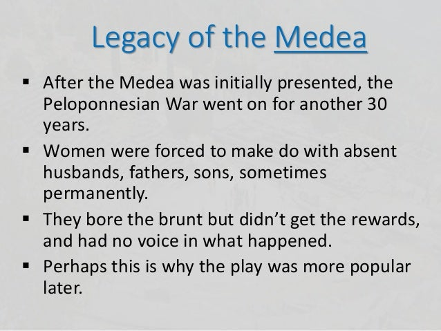 a character analysis of medea from the play medea by euripides These plays have a highly organized structure leading to a recognition scene in which the discovery of a character  medea one of euripides  play, euripides.
