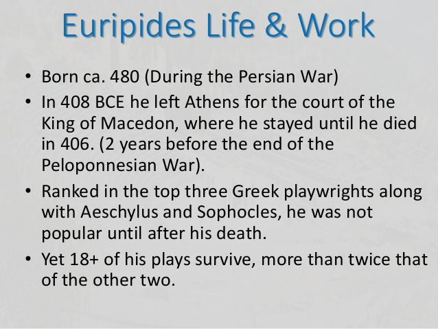 The slavery in euripides as described in medea