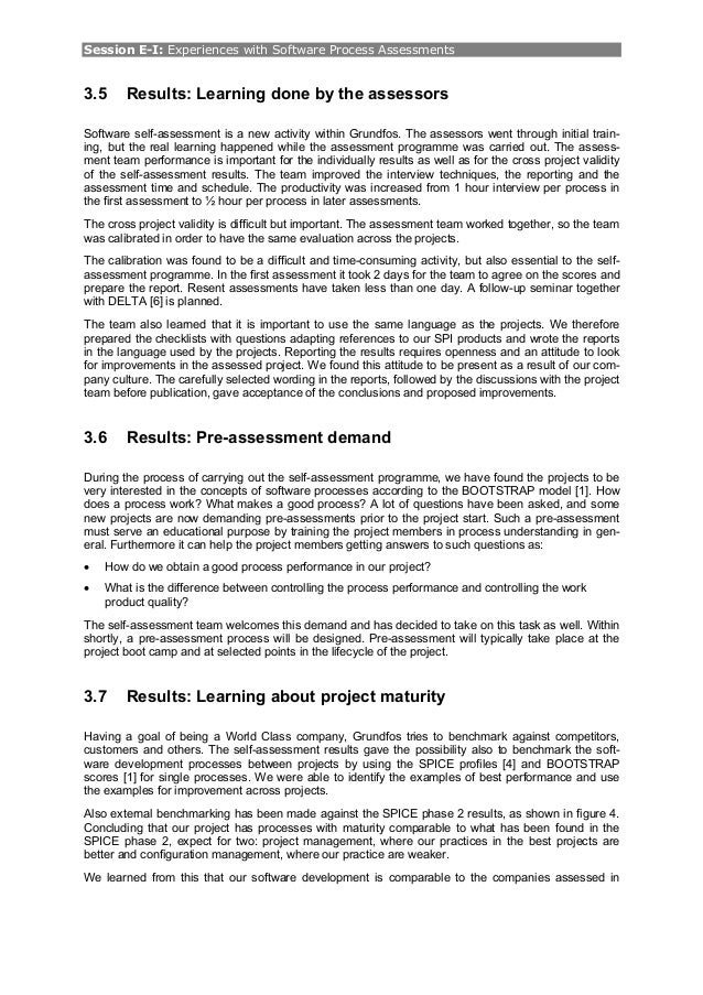 euro spi paper how implementing self assessment powered our sp  8