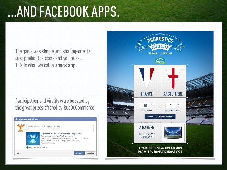 ...AND FACEBOOK APPS. The game was simple and sharing-oriented. Just predict the score and you're set. This is what we cal...