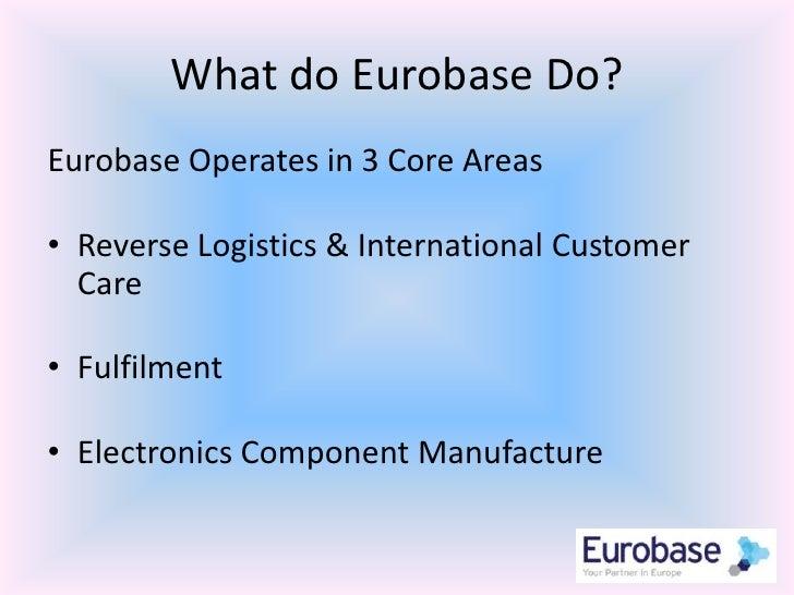 Eurobase your partner in europe Slide 3