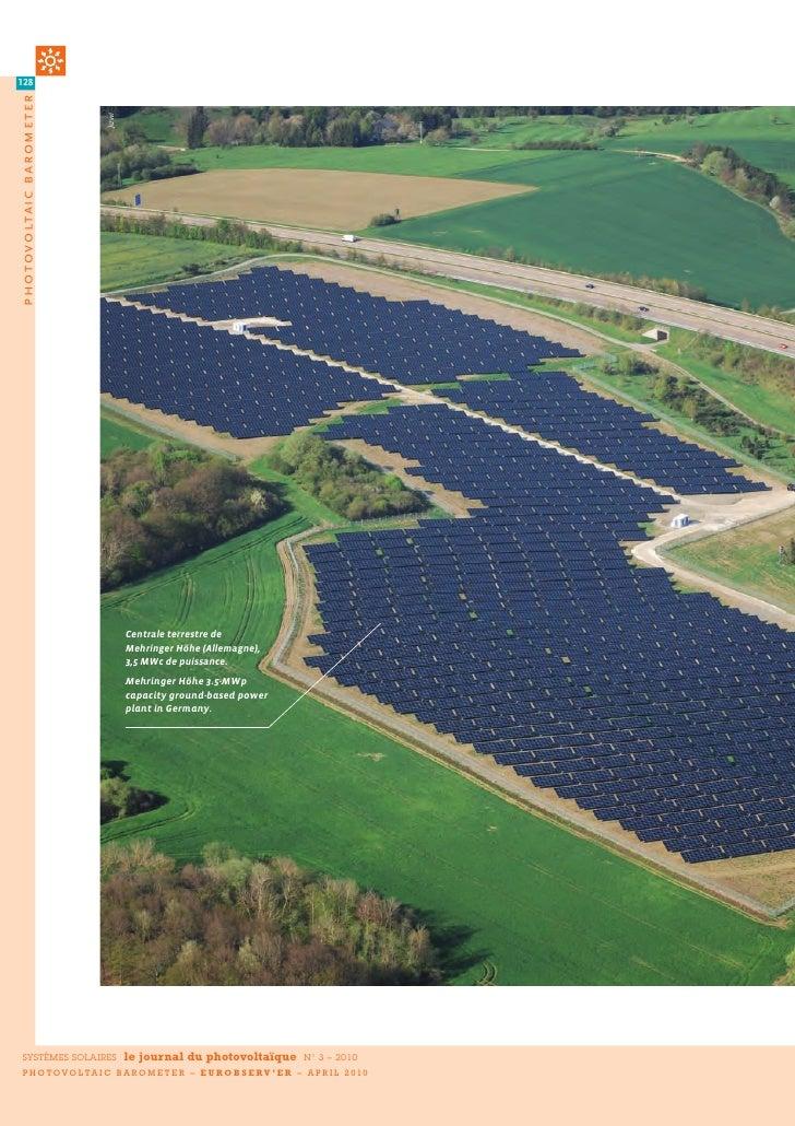 128 photovoltaic b arometer                               Juwi                                      Centrale terrestre de ...