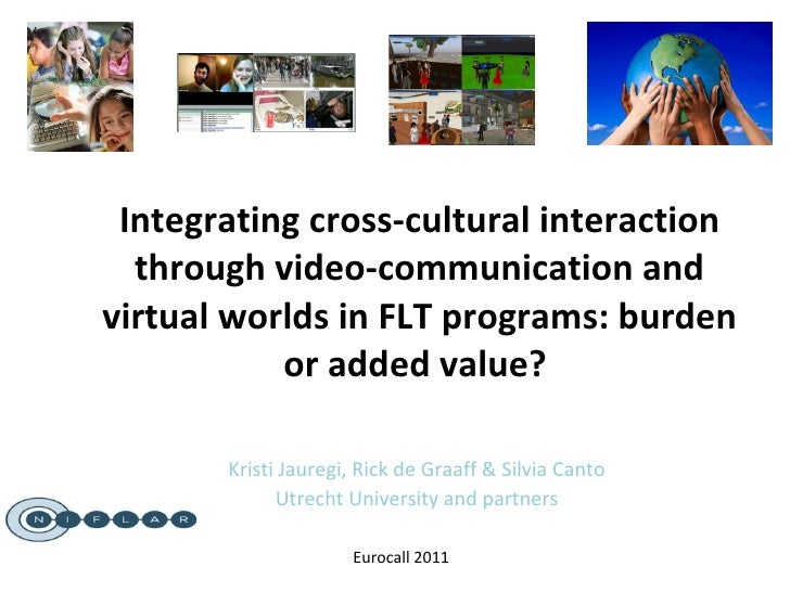 Integrating cross-cultural interaction through video-communication and virtual worlds in FLT programs: burden or added val...