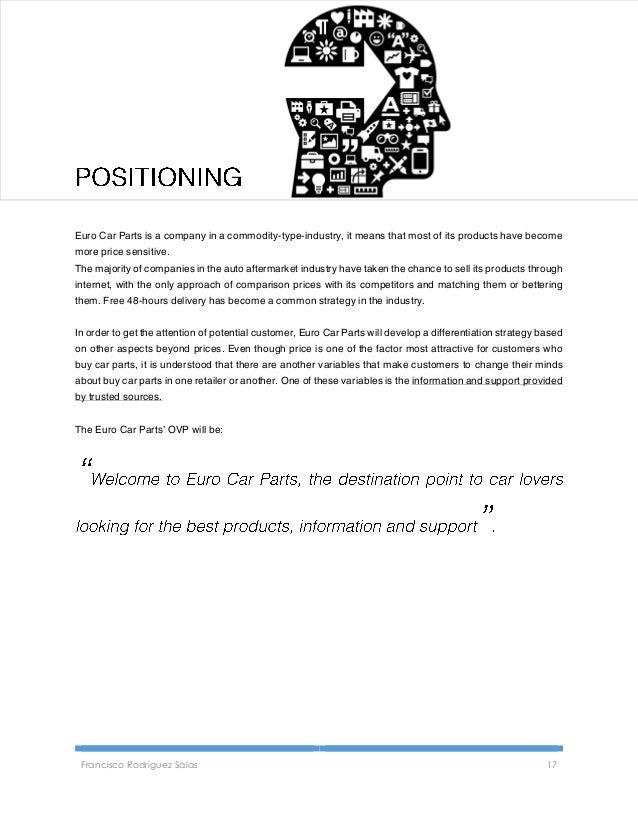 Digital Marketing Plan For Euro Car Parts Ltd Idm Professional Dipl