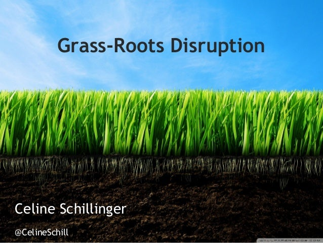 Grass-Roots DisruptionCeline Schillinger@CelineSchill